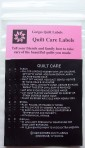 black quilt care labels