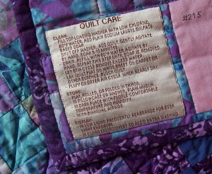 Gorges Quilt Labels Quilt Care Label