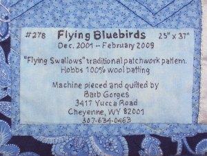 quilt identification label